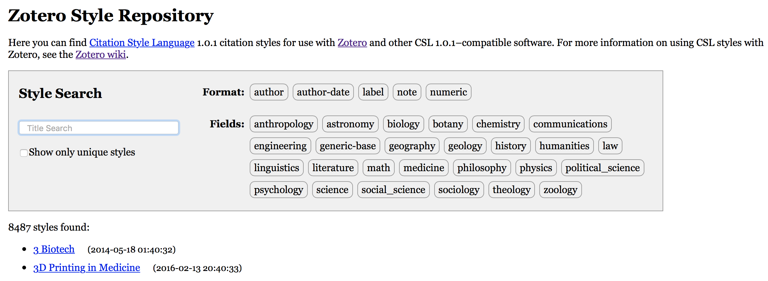 Styles And Search For Annotated Currenty,  There Are Two Annotated Styles Available