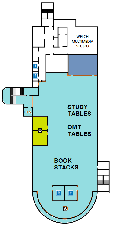 Map of MO library ground floor