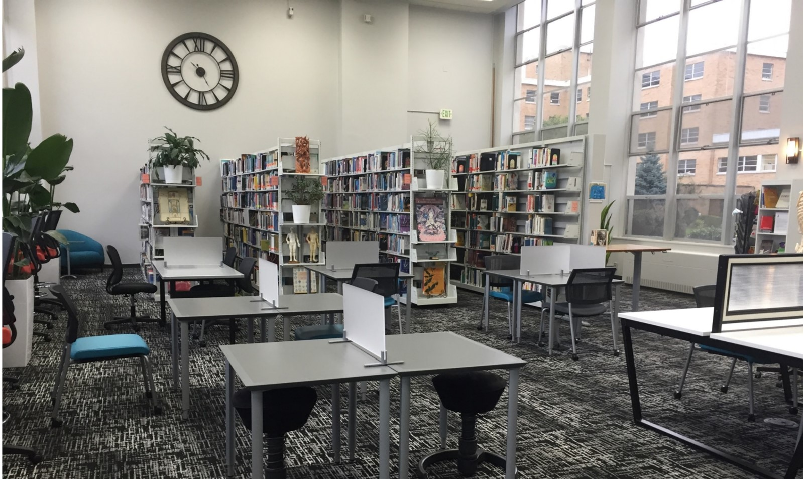 Library shelving and desks