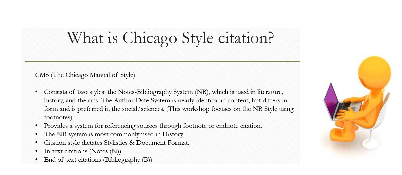 citations for chicago style The following illustrate some common citations based on the chicago manual of style the first the first line denotes, with the letter n, how the citation will appear either at the bottom of the page.