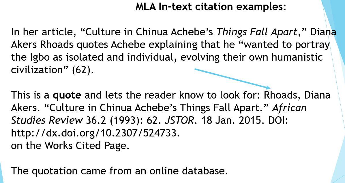mla format works cited essay
