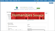 humanities source database tutorial screencapture
