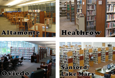 four Seminole State campus libraries