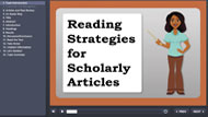 reading strategies for scholarly articles tutorial screencapture