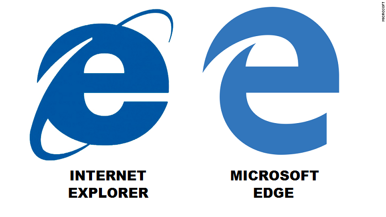 Internet Explorer icon vs Edge icon