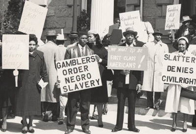 African American citizens picketing for Civil Rights