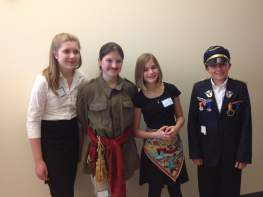 Mendive Middle School National History Competitors