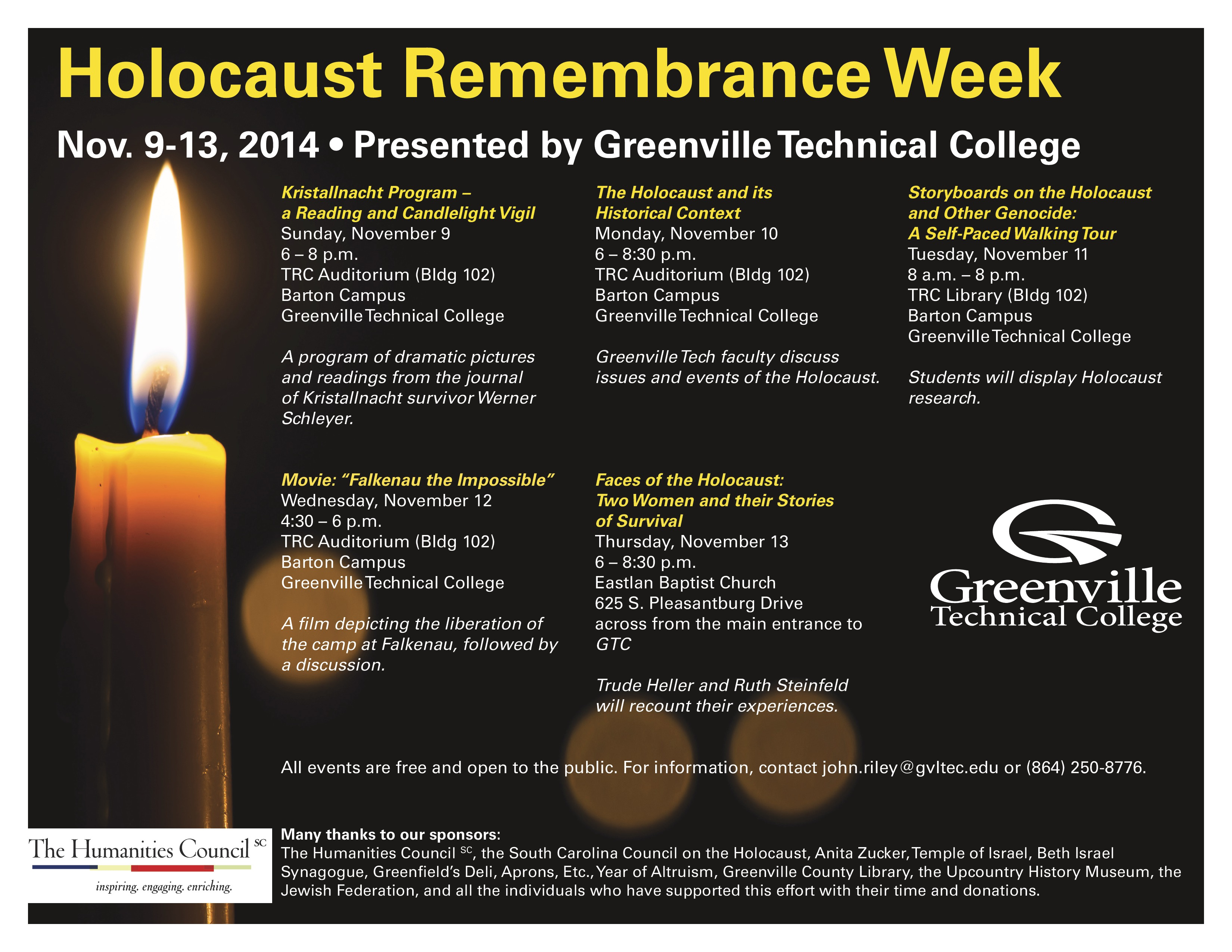 holocaust remembrance week at gtc holocaust remembrance
