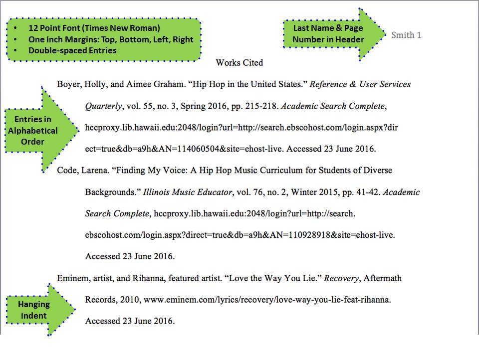 mla style th ed citing your sources research guides at  works cited page format