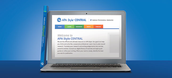 APA Style CENTRAL laptop image