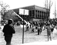 National Guard, tear gas, Kent State University May 4, 1970