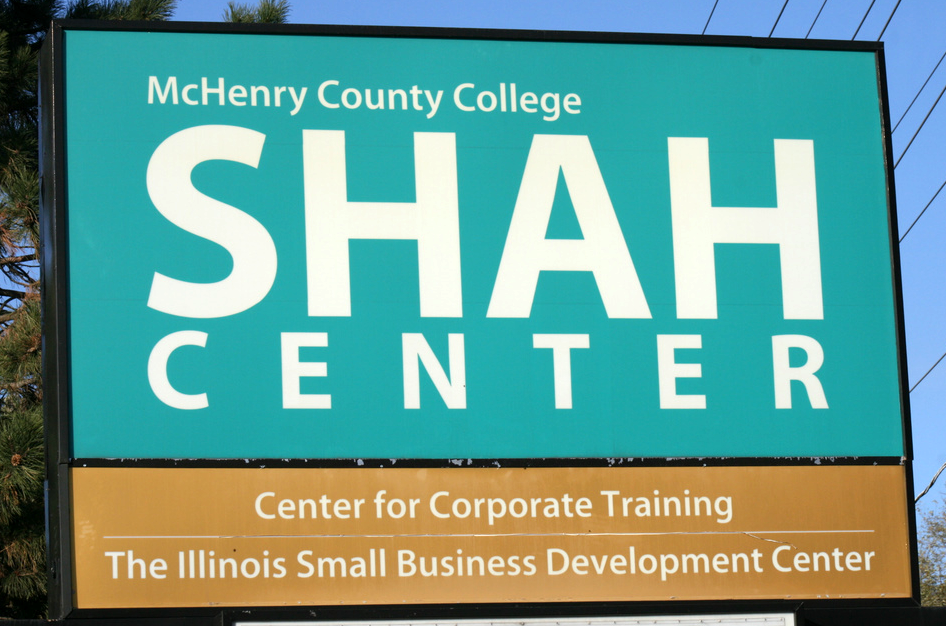 MCC Shah Center sign
