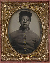Portrait of African American soldier from U.S. Civil War