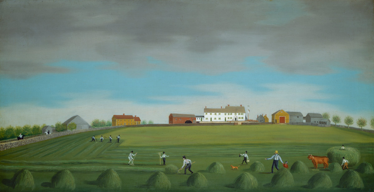 Painting of Ralph Wheelock's Farm, by Francis Alexander, c.1822