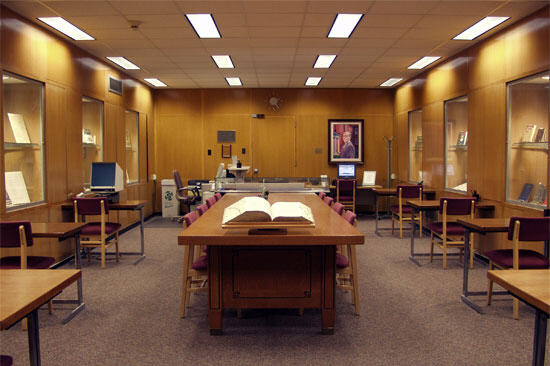 Interior of Special Collections reading room