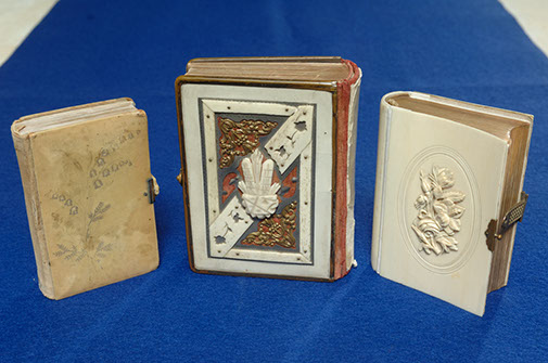 Three prayerbooks with ivory covers