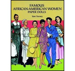 Famous African American Women Paper Dolls book cover
