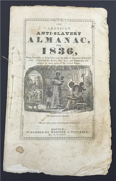 Copy of the American Anti-Slavery Almanac for 1836
