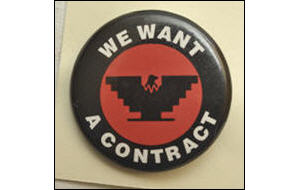 United Farm Workers button
