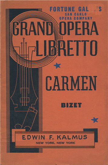 Cover image for Grand Opera Libretto: Carmen