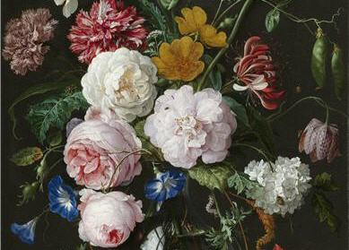 Detail of Still Life with Flowers in a Glass