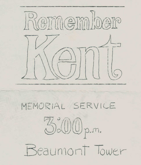 Remember Kent State flyer