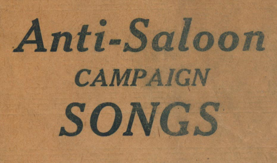 Detail of temperance songbook title page
