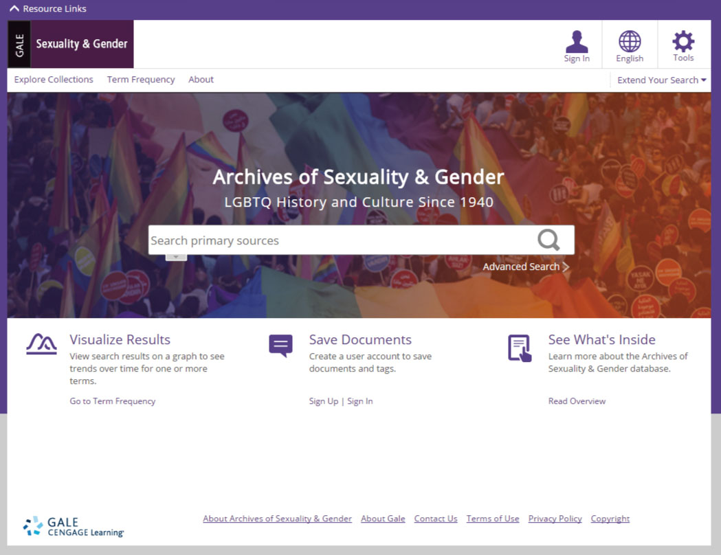 Archives of Human Sexuality and Gender