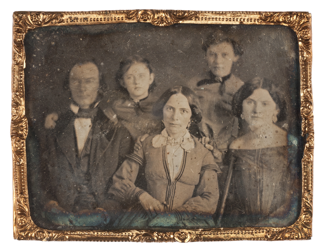 William V. B. Moore and family, approx. 1855