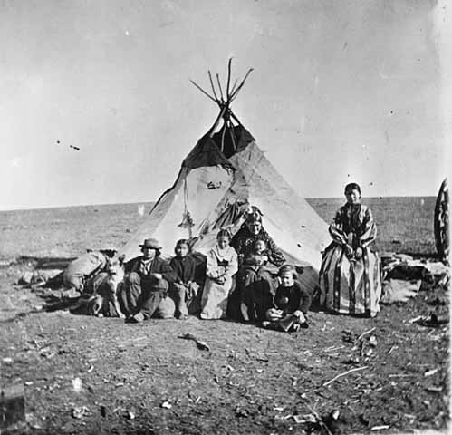 Half-breed camp, approximately 1870