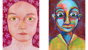 Are facial symmetry and skin color simply