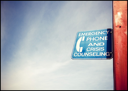 crisis counseling sign