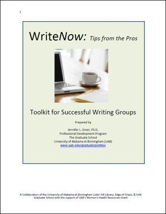 WriteNow: Tips from the Pros.  Toolkit for Successful Writing Groups