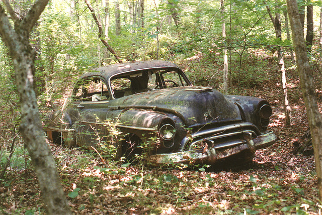1950 Oldsmobile Rusting into the Earth