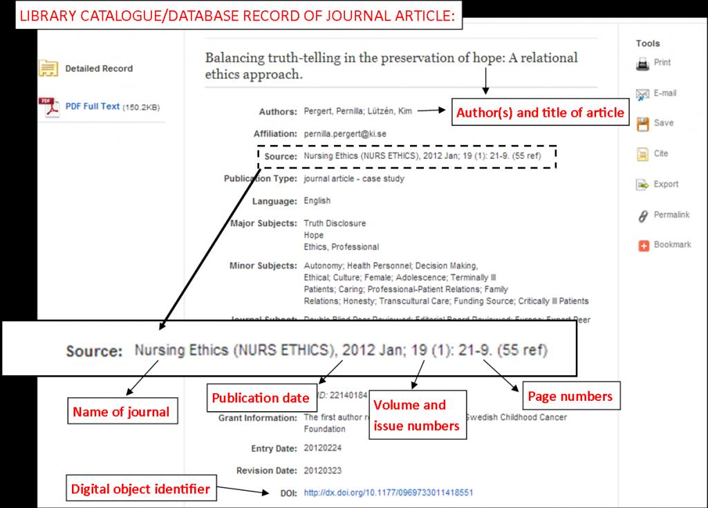 journal citation style