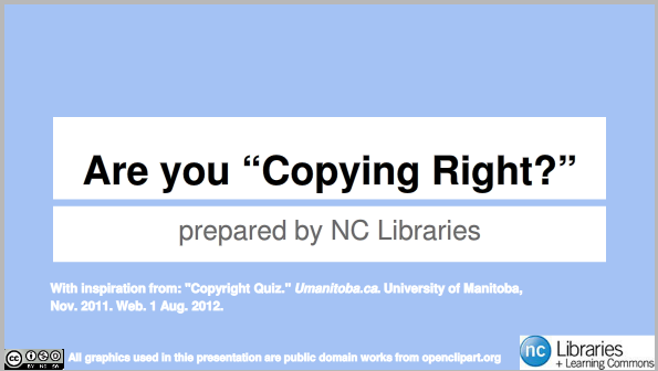 "Are you ""Copying Right""? Quiz title page"