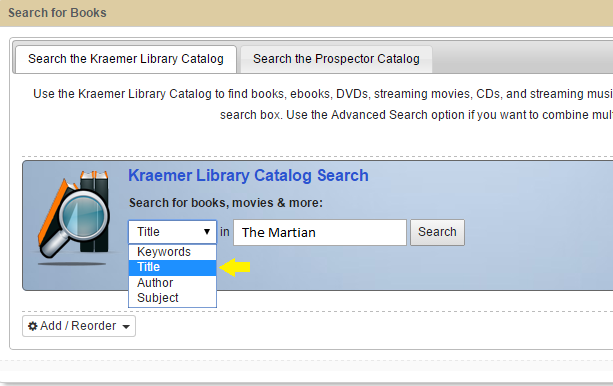 Catalog Title Search
