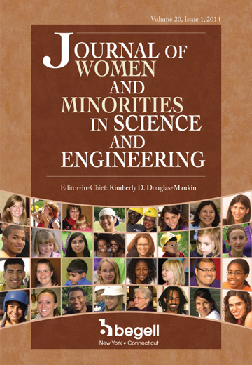 cover of the journal of women and minorities in science and engineering
