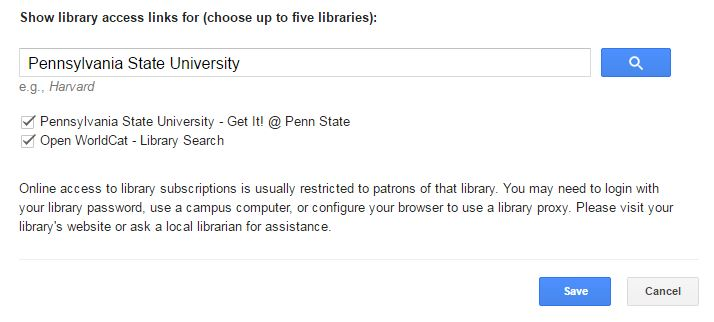 Search for Pennsylvania State University in the search box