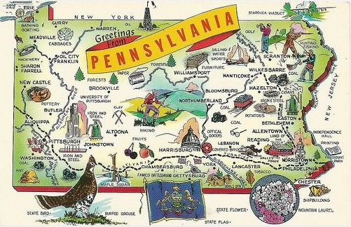 Penn State Libraries Collections Maps Geospatial Pennsylvania - Pennyslvania map