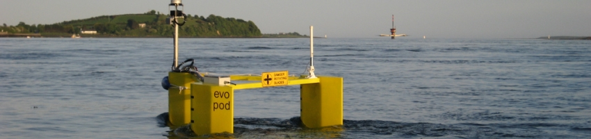 Tidal energy converter floating off shore