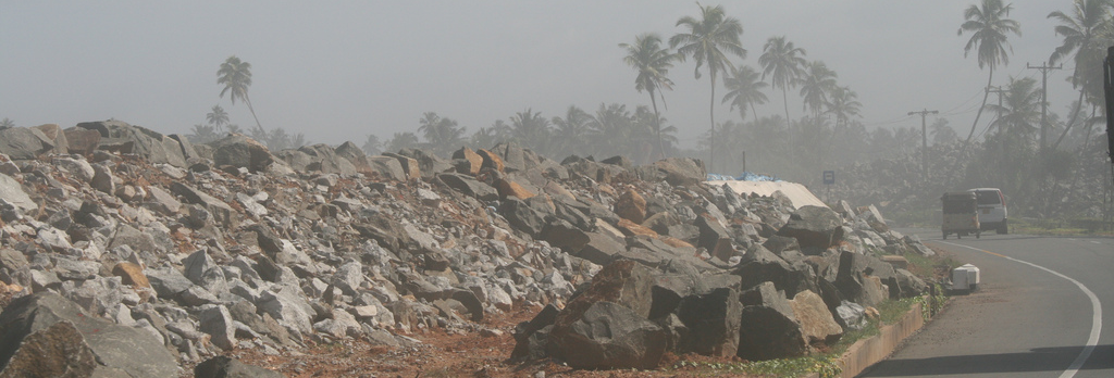 rubble from a tsunami