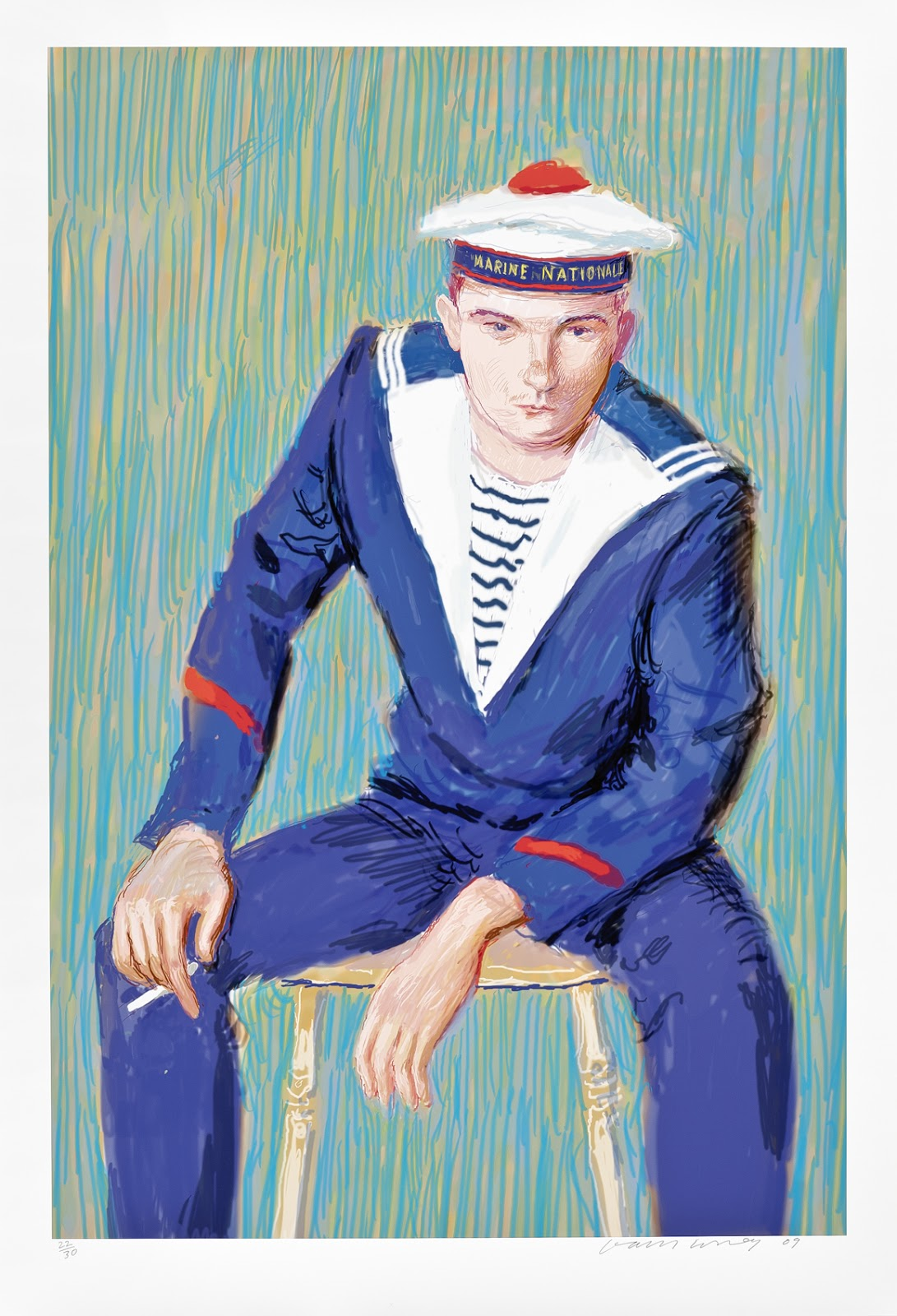 David Hockney, Matelot, Kevin Druez 1, 2008