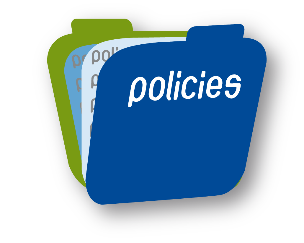Graphic depictiing policies in folders