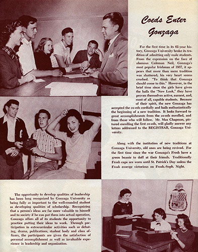 """There's Something New at Gonzaga U,"" 1949."