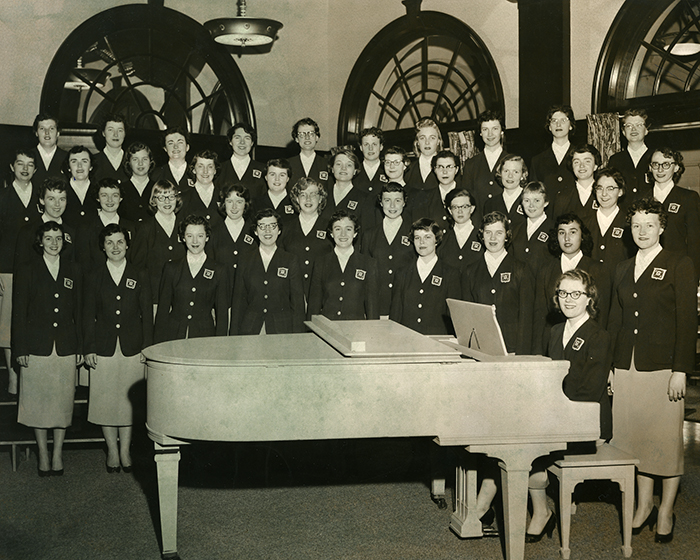 Women's Glee Club, about 1950.
