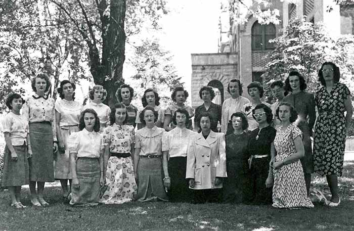 Some of the First Female Co-eds to be Admitted to Gonzaga, 1948-1949.