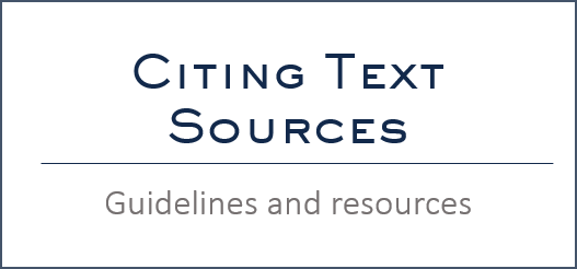 Citing text sources