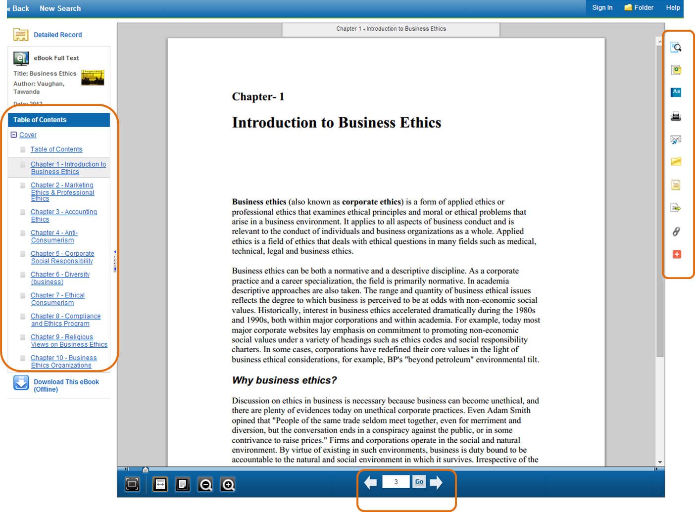 EBSCO ebook full text viewing option