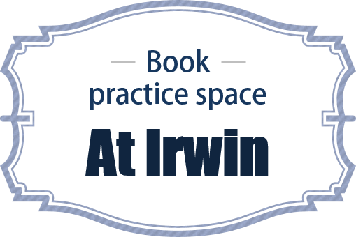 Book practice space at Irwin